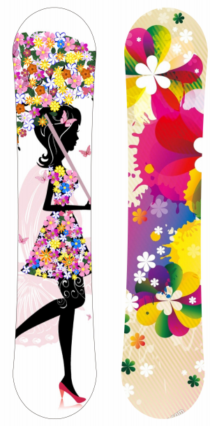 custom graphic rocker ABS sidewall women snowboard