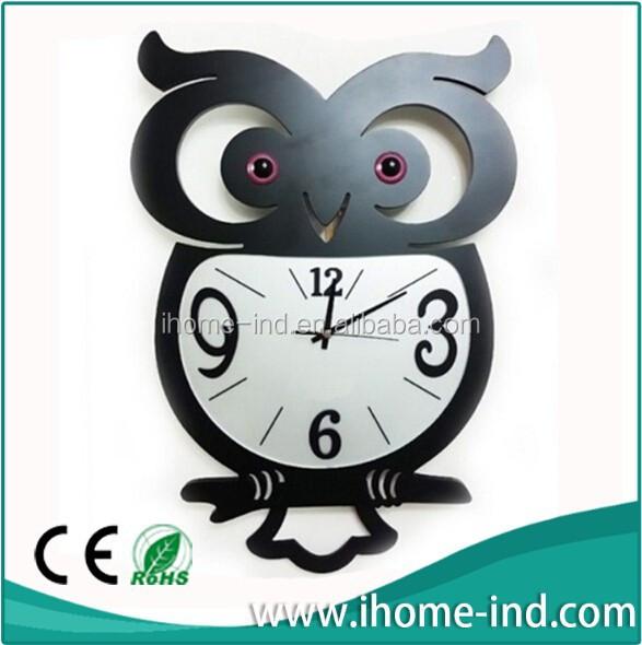 2014 eule form acryl wanduhr wanduhr produkt id 1711796445. Black Bedroom Furniture Sets. Home Design Ideas
