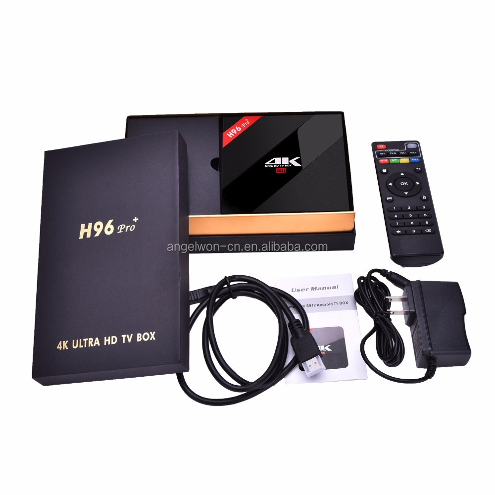 2017 New Android 7.1 TV Box wold language TV receiver H96 PRO plus S912 2G+16G set top box