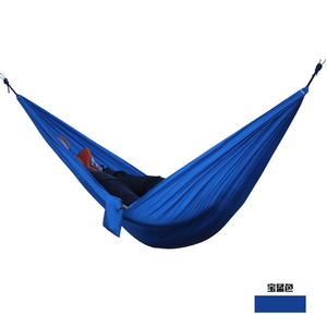 YIWU Outdoor double Blue umbrella hammocks parachute cloth custom color rocking hammocks