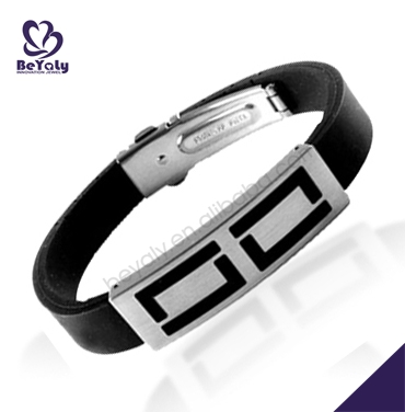 2016 high quality fashion jewelry stainless steel leather bracelet with cross