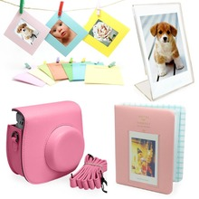 Fujifilm Instax Mini 8 Instant Camera Accessories Bundle [Includes: Pink Case, Shoulder Strap, Pink Photo Album…