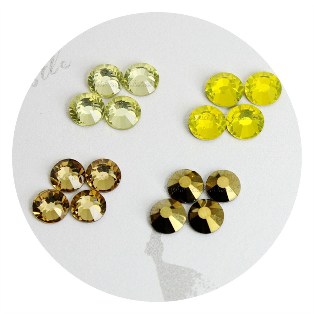 Sample free mix color ss10 round bling 3D nail strass crystal flatback non hot fix rhinestone for crafts