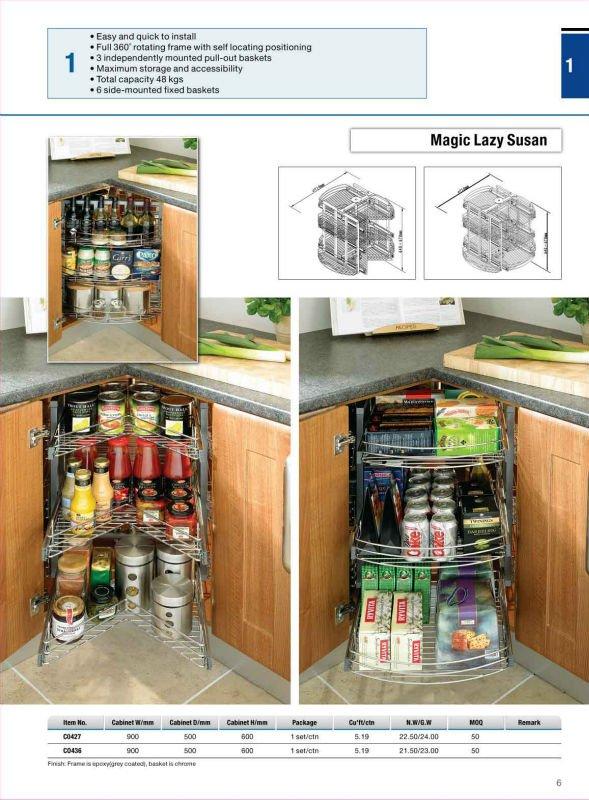 Kitchen Cabinet Blind Corner Optimizer Basket Kitchen