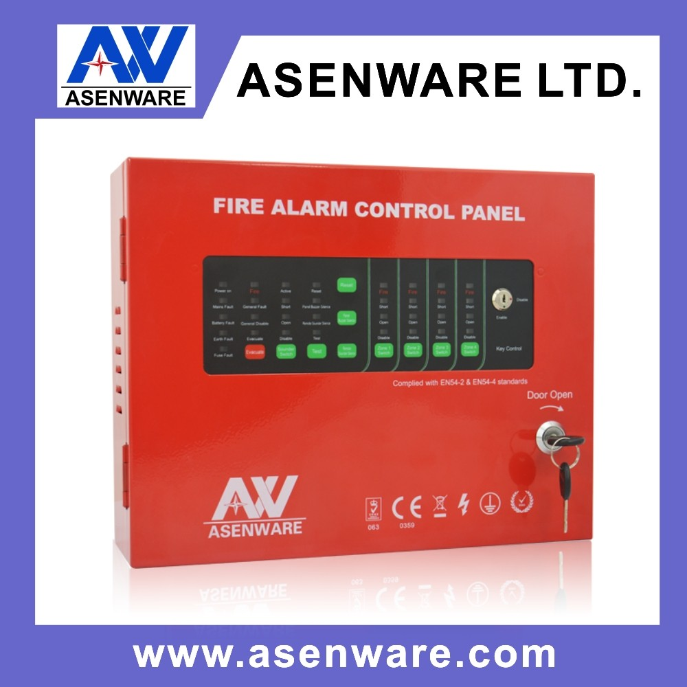 High quality conventional 4 zone fire alarm control panel control each zone seperately