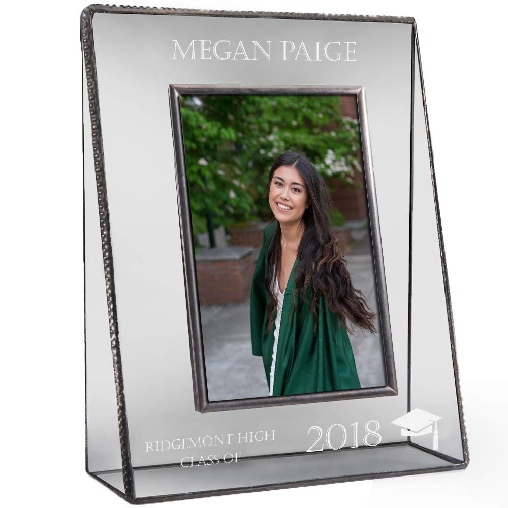 J Devlin PIc 319-57V EP500 Personalized Graduation Picture Frame High School or College Graduate Gift Class of 2018 Tabletop 5 x 7 Vertical Photo