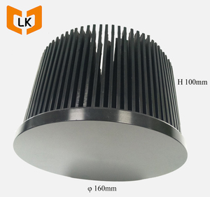 round led cob heat sink, 160mm pin fin heat sink, cxb 3590 cooler