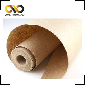 70gsm recycle printed brown kraft gift wrapping paper