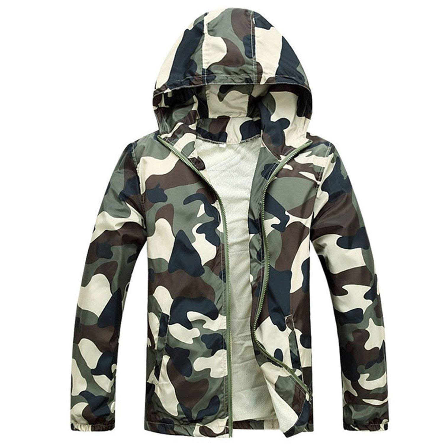 Roxacam Faomgo 2017 Hot Sale Mens Outwear Thin Jackets Coats Fashion Camouflage Jacket Summer Male Hooded
