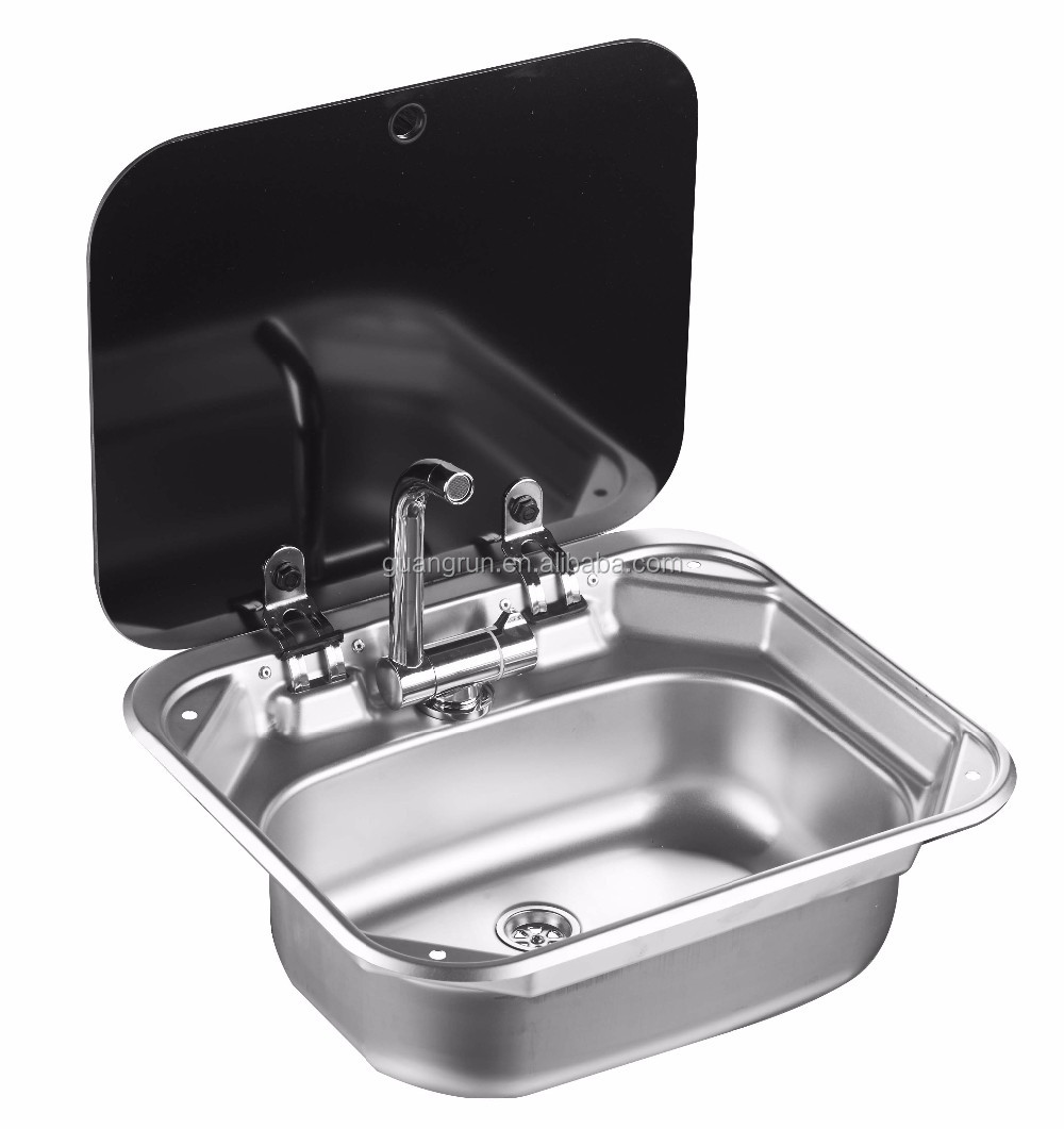Dometic Type Stainless Steel Rectangular Hand Wash Basin