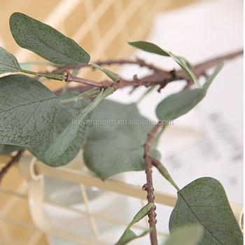 Artificial Flower Silk Silver Dollar Eucalyptus Garland Flowers Foliage Leaves Faux In Green