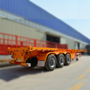 Factory Sale 40ft container chassis Trailer and 40ft skeleton container semi trailer on sale