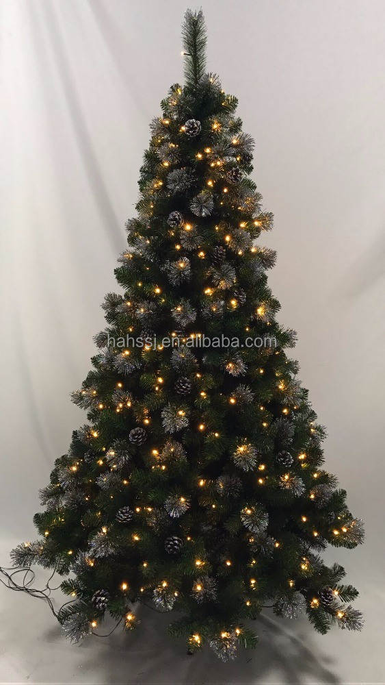 High quality custom made artificial PVC plastic christmas trees decorations HS-K210-1142-SMXM-A-430L