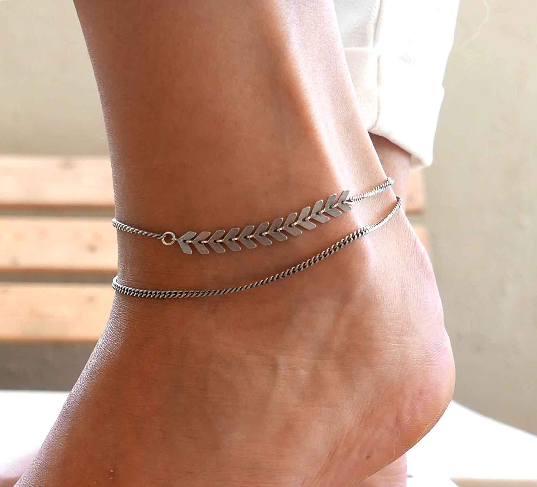 Handmade Sterling Silver Ankle Bracelet For Women By Galis Jewelry - Sterling Silver Anklet For Women - Arrow Anklet - Bridal Anklet