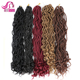 2X Mambo Twist Curly Synthetic Faux Locs Crochet Hair Extensions with 20inch 24 strands/pack