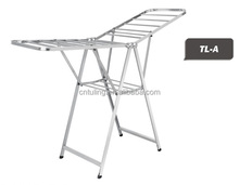 High Quality stainless steel floor standing clothes drying rack for coat and other textiles TL-A