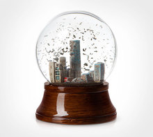 environmental protection snow globe, water globe,snow ball