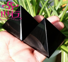 Wholesale beautiful home decoration crystal pyramid black obsidian pyramid