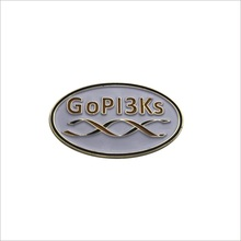 white soft enamel lapel pins with letters gold plated pin badges