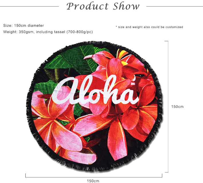 [10% discount ] Free sample 100% cotton velour reactive printed custom round beach towel