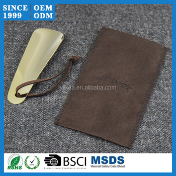 12cm Hottest Copper Shoe Horn Natural Horn With Bag