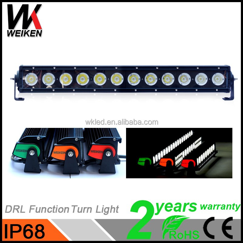 WEIKEN Super bright Spot&Flood Combo Driving Lamp Aluminum Alloy 120w Led Light Bar for car 4WD Off Road