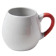 Best selling inner color glazed beautiful printing ball shape ceramic coffee mug