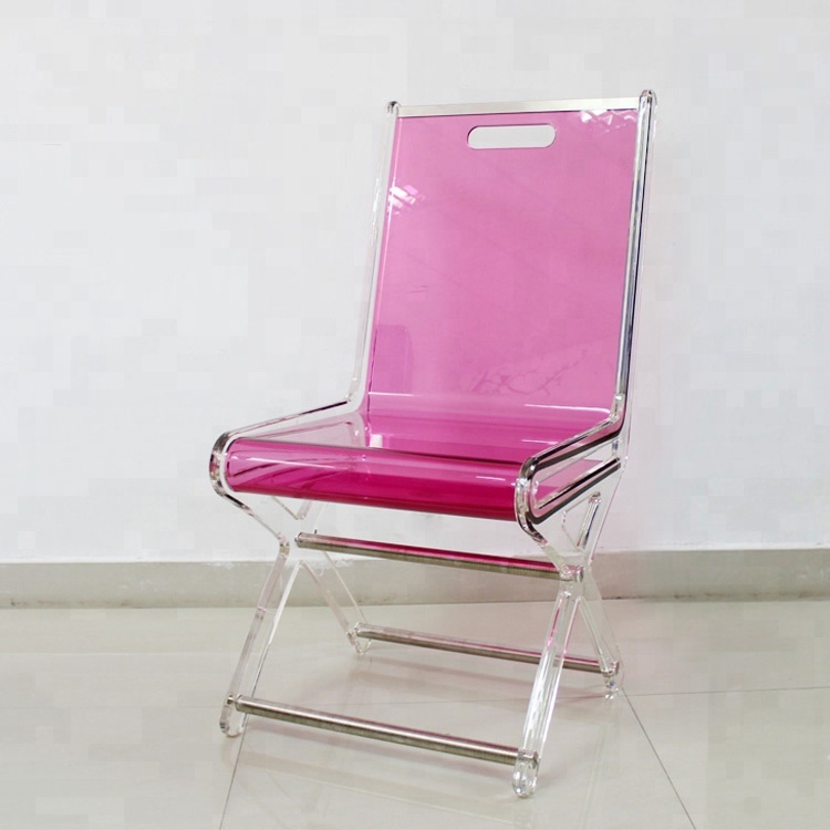 Home furniture red landing luxury single-person plastic acrylic <strong>chair</strong>