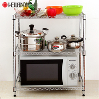 High Quality Lowest MOQ 3 Tier Mini Kitchen Microwave Storage Holder Wire Rack