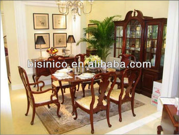 British Royal Furniture Queen Anne Series Dining Room Set Table