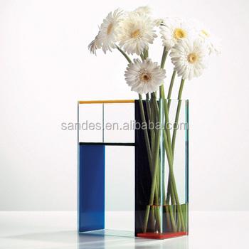 Rectangular Pop China Transparent Color Cheap Acrylic Indoor Tube