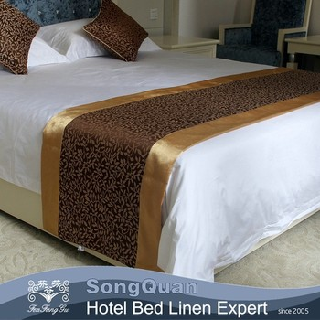 Hotel Bed Runner Square Pillow Hotel Linen Textile
