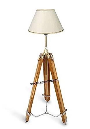 CONTEMPORARY DESIGNER TRIPOD FLOOR LAMP STAND MODERN LAMP SHADE TRIPOD STAND