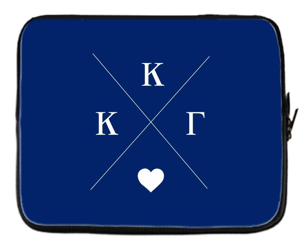 Kappa Kappa Gamma Hipster Logo Dark Blue Neoprene Sleeve Case for 15 inch Laptop Skin Cover for Acer/Apple/Asus/Lenovo/HP/Samsung & More
