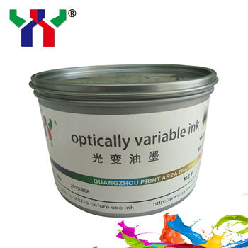 Screen Printing Optical Variable Ink F8 Yellow Green to Blue