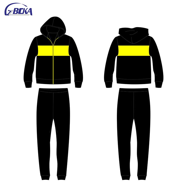 Wholesale custom cheap men black jogger pants american sportswear set фото