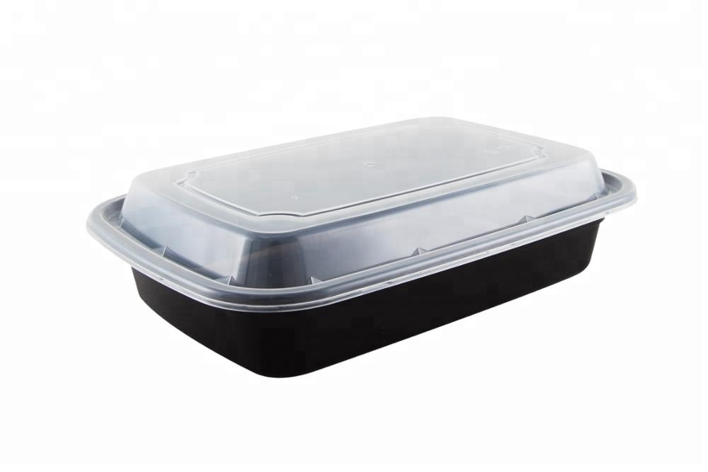 Disposable plastic food containers 28 oz Meal prep PP boxes