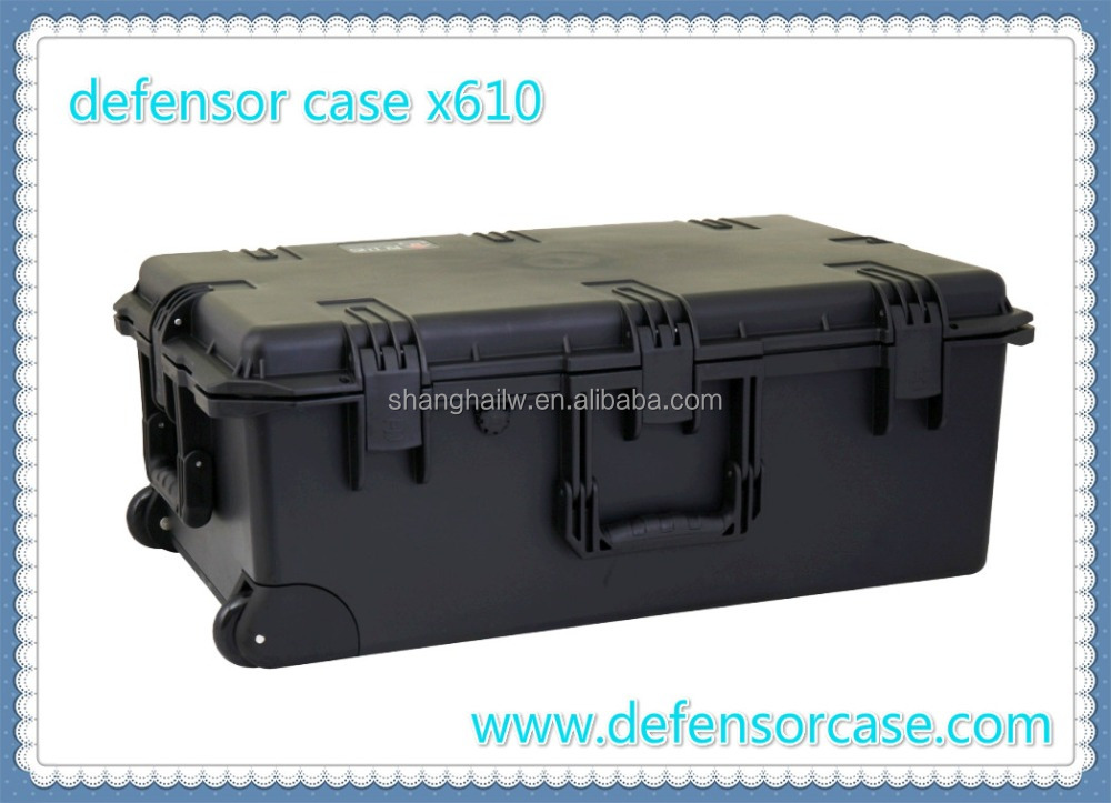 x610-IP67 Protection Level and plastic equipment <strong>case</strong> Type <strong>hard</strong> plastic waterproof shockproof military gun <strong>case</strong>