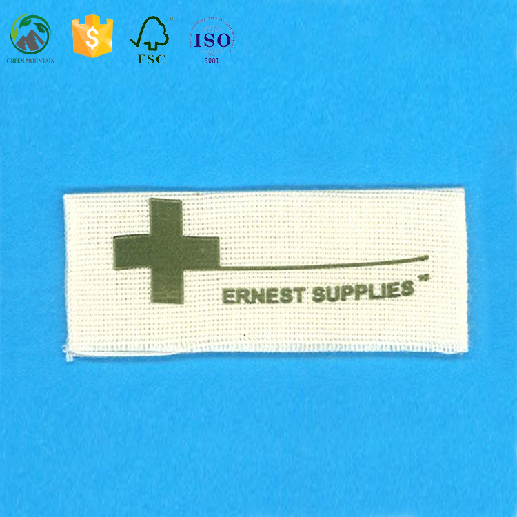 Eco-friendly natural cotton woven label for women and men clothing