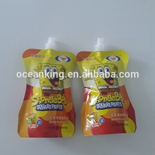 high quality customized design stand up die cut plastic spout bag
