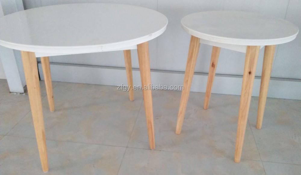 Ronde tafel postorderbedrijven eenvoudige witte ronde tafel export
