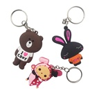 China factory make customized 2D pvc keychain 3D rubber key chain
