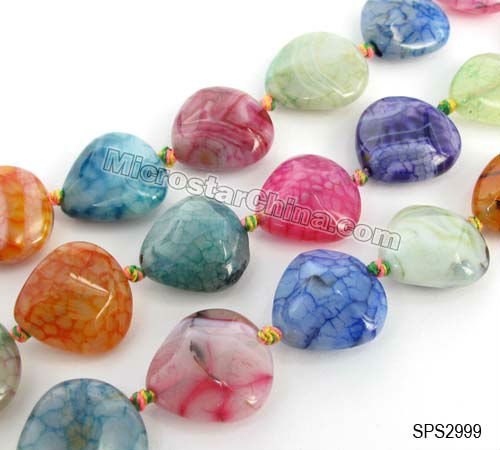 Hot sale jewellery and gemstones faceted heart mixed color
