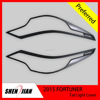 Car Exterior Accessories for Christmas Gift 2pcs/set Chrome black Front Light Lamp Cover Trim for Toyota 2015 Fortuner