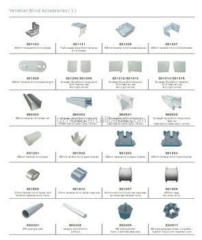 China Factory Made 25mm Aluminum Auto Venetian Blind Parts