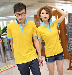 Unique yellow&blue Couples polo shirt Adults for love