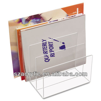 Acrylic Office File Stands