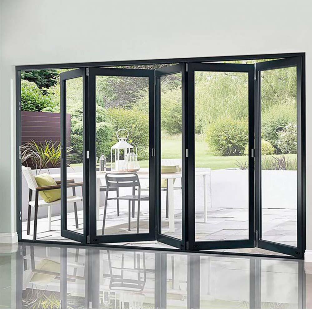Interior Bifold Doors Sliding Glass Folding Door Tempered Glass Bi-fold  Door - Buy Interior Glass Bifold Doors,Lowes Glass Interior Folding