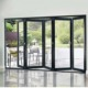 interior bifold doors sliding glass folding door tempered glass bi-fold door