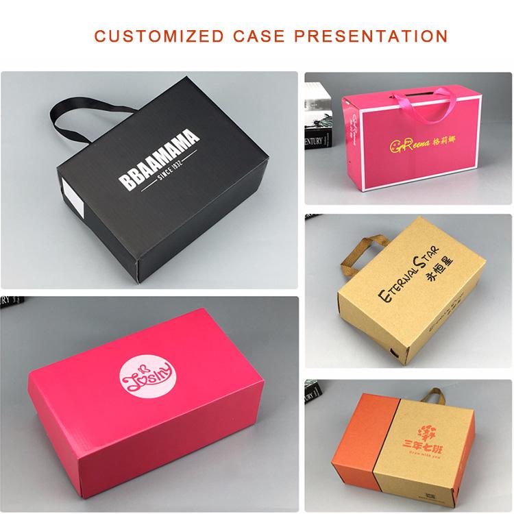 Top Personalizado Reciclável Dobrável Gigante Sapatos Caixas De Venda Por Atacado Personalizado